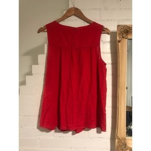Lucky Brand Tops - Lucky Brand Red and White Embroidered Tank